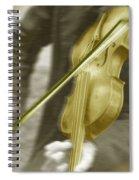 Golden Violin Spiral Notebook
