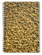 Golden Water Spiral Notebook