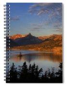 Golden Wild Goose Island Spiral Notebook