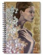 Golden Wind Spiral Notebook
