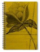 Golden Wood Flower Spiral Notebook