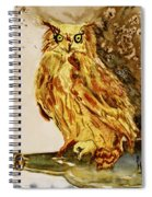 Goldene Bier Eule Spiral Notebook