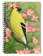 Goldfinch And Dogwood Spiral Notebook