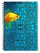 Goldfish Study 3 - Stone Rock'd Art By Sharon Cummings Spiral Notebook