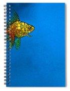 Goldfish Study 4 - Stone Rock'd Art By Sharon Cummings Spiral Notebook