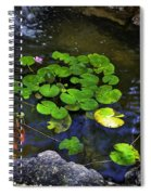 Goldfish With Lily Pads Spiral Notebook