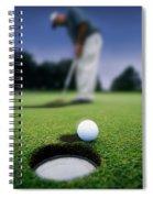 Golf Ball Near Cup Spiral Notebook