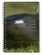 Golf Ball On Tee Hit By Driver Spiral Notebook
