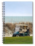 Golf Cart At Kiawah Island Golf Course Spiral Notebook