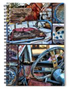 Golf Cart Collage Spiral Notebook