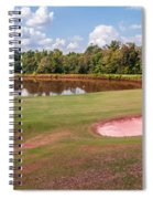 Golf Course Beautiful Landscape On Sunny Day Spiral Notebook