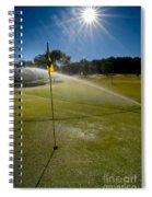 Golf Course Sprinkler On Sunny Day Spiral Notebook