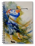 Golf Player Spiral Notebook