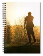 Golfer At Sunset Spiral Notebook