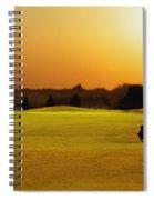 Golfer Walking On A Golf Course Spiral Notebook