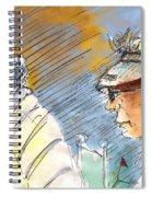 Golfers In Soufflenheim 02 Spiral Notebook