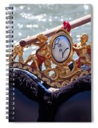 Gondola Bench Seat With Cherub Decoration Venice Italy Spiral Notebook