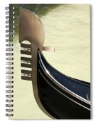 Gondola Metal Bow Decoration Venice Italy Spiral Notebook