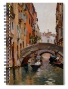 Gondola On A Venetian Canal Spiral Notebook