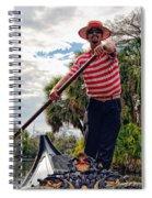 Gondola Ride In City Park New Orleans Spiral Notebook