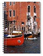 Gondolas In A Canal, Grand Canal Spiral Notebook