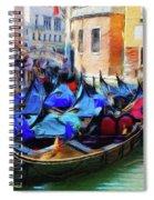 Gondolas Spiral Notebook