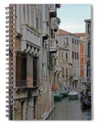 Gondolas On Backstreet Canal Spiral Notebook