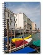 Gondolas On The Grand Canal Spiral Notebook