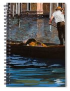 Gondoliere Sul Canale Spiral Notebook