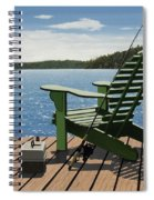 Gone Fishing Aka Fishing Chair Spiral Notebook