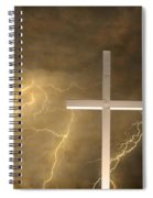 Good Friday In Sepia Texture Spiral Notebook