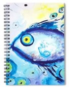 Good Luck Fish Abstract Spiral Notebook