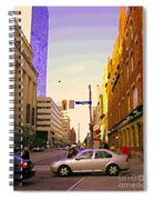 Good Morning Drive By Yonge St Starbucks Toronto City Scape Paintings Canadian Urban Art C Spandau  Spiral Notebook