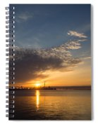 Good Morning Toronto With A Glorious Sunrise Spiral Notebook