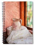 Good Morning- Vintage Pitcher And Wash Bowl  Spiral Notebook
