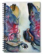 Cowboy Boots In Watercolor Good Ride Spiral Notebook