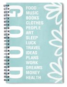 Good Things Blue Spiral Notebook