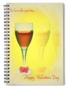 Good Wine Valentine Card Spiral Notebook