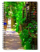 Goodbye Walking Away New Friends New Places To Visit Streets Of Verdun Montreal Art Scenes C Spandau Spiral Notebook