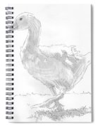 Goose Drawing Spiral Notebook
