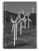 Gorge Windmills B W Spiral Notebook