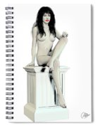 Young Woman Naked Spiral Notebook