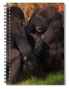 Gorillas Having Fun Together  Spiral Notebook