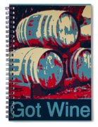 Got Wine Blue Spiral Notebook