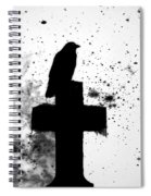 Gothic Black And White Spiral Notebook
