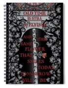 Gothic Celtic Impermanence Spiral Notebook