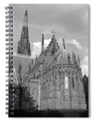 Gothic Church In Black And White Spiral Notebook