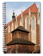 Gothic Church Of St. Catherine In Krakow Spiral Notebook