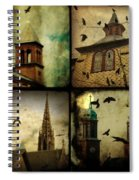 Gothic Churches And Crows Spiral Notebook