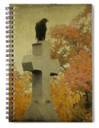 Gothic Fall Crow Spiral Notebook